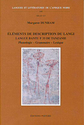 Eléments de description du langi, langue bantu F.33 de Tanzanie